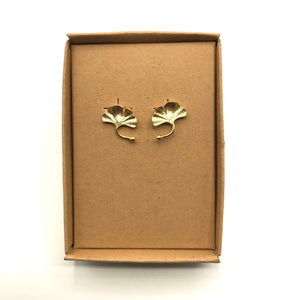Boho ginkgo leaf earrings