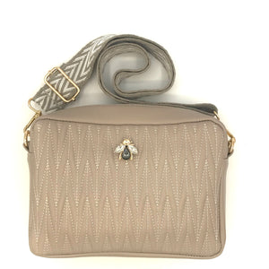 Cross body bag in vegan leather - Rivington in taupe