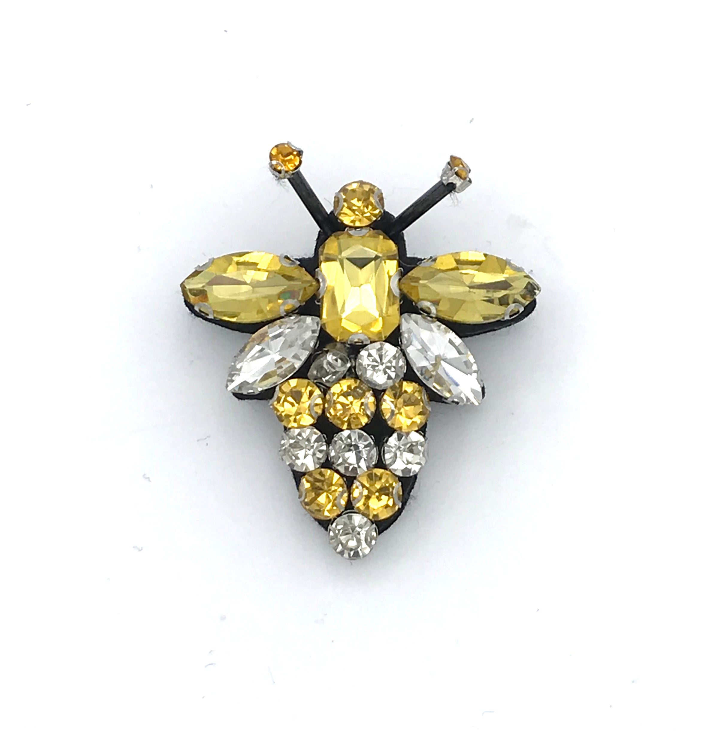 Giant queen bee pin in yellow