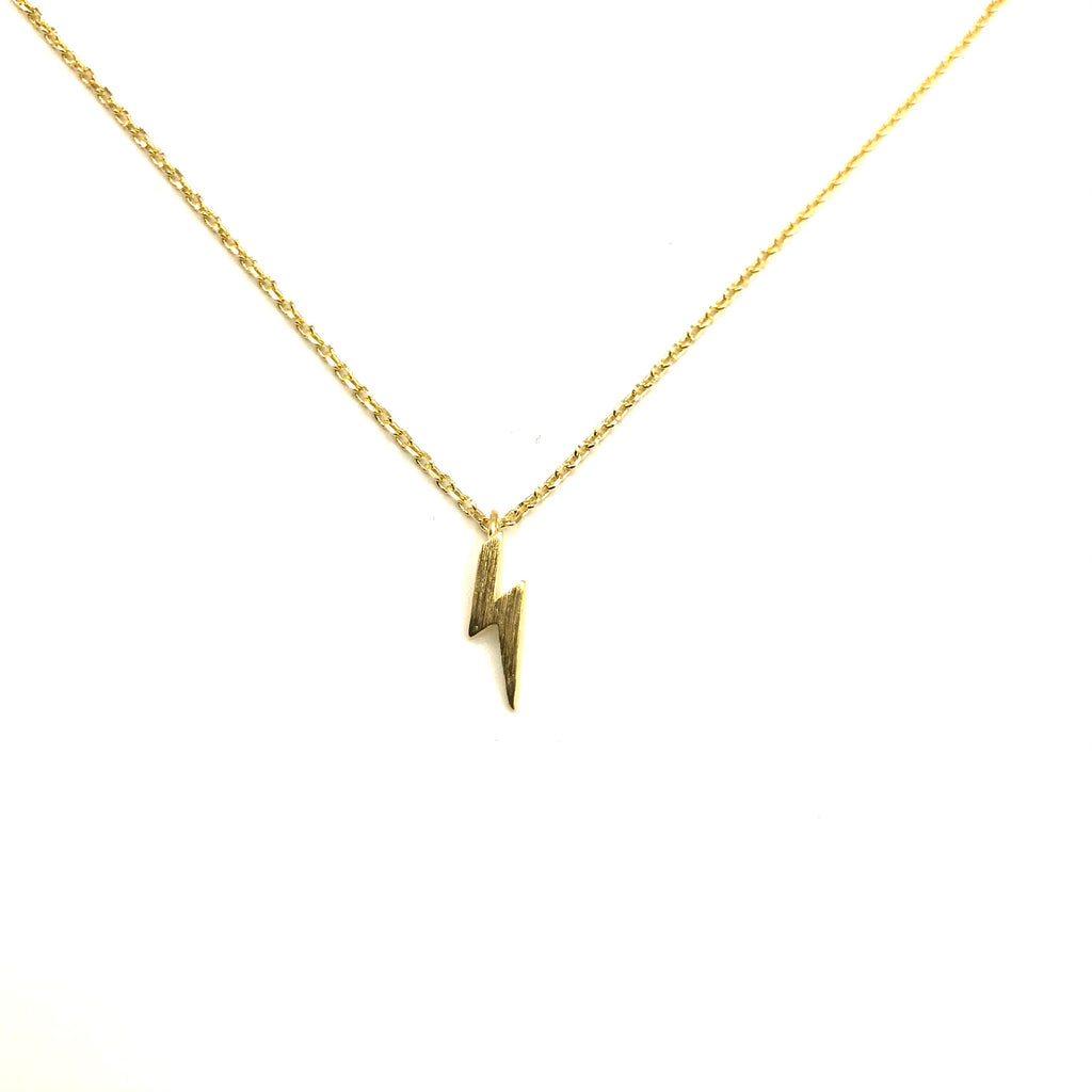 Golden lightning bolt necklace