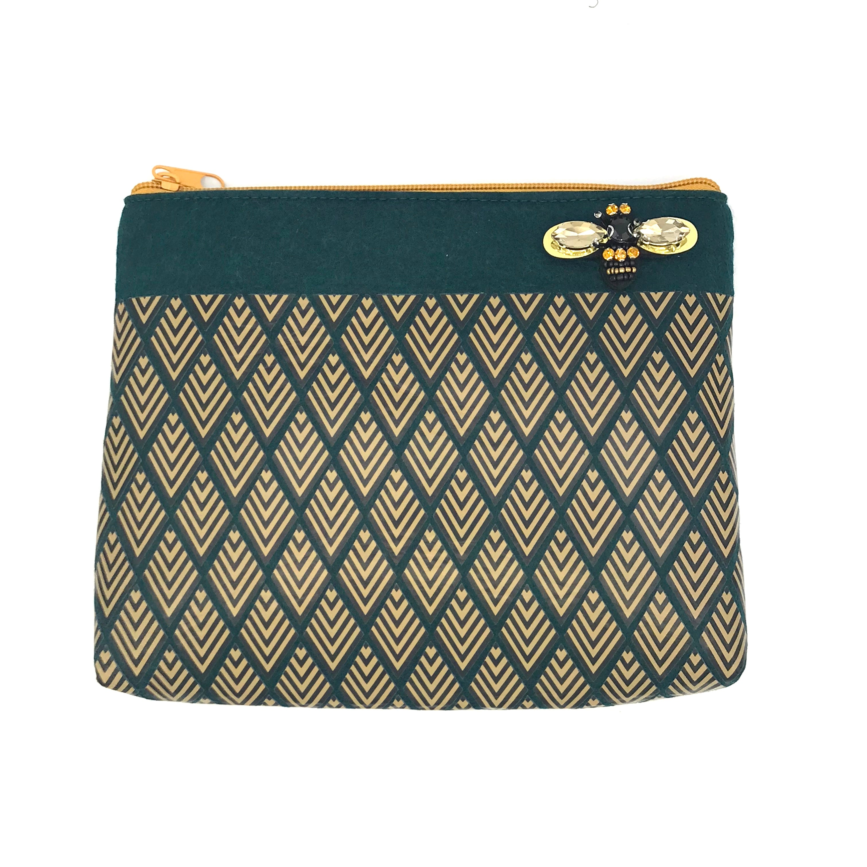 Sixton London Deco print pouch