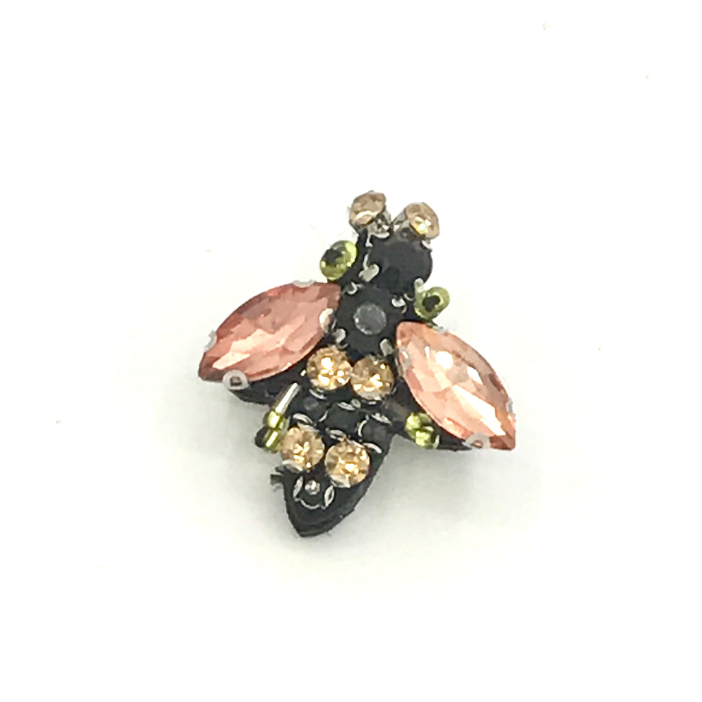 Sparkly bee pin in champagne