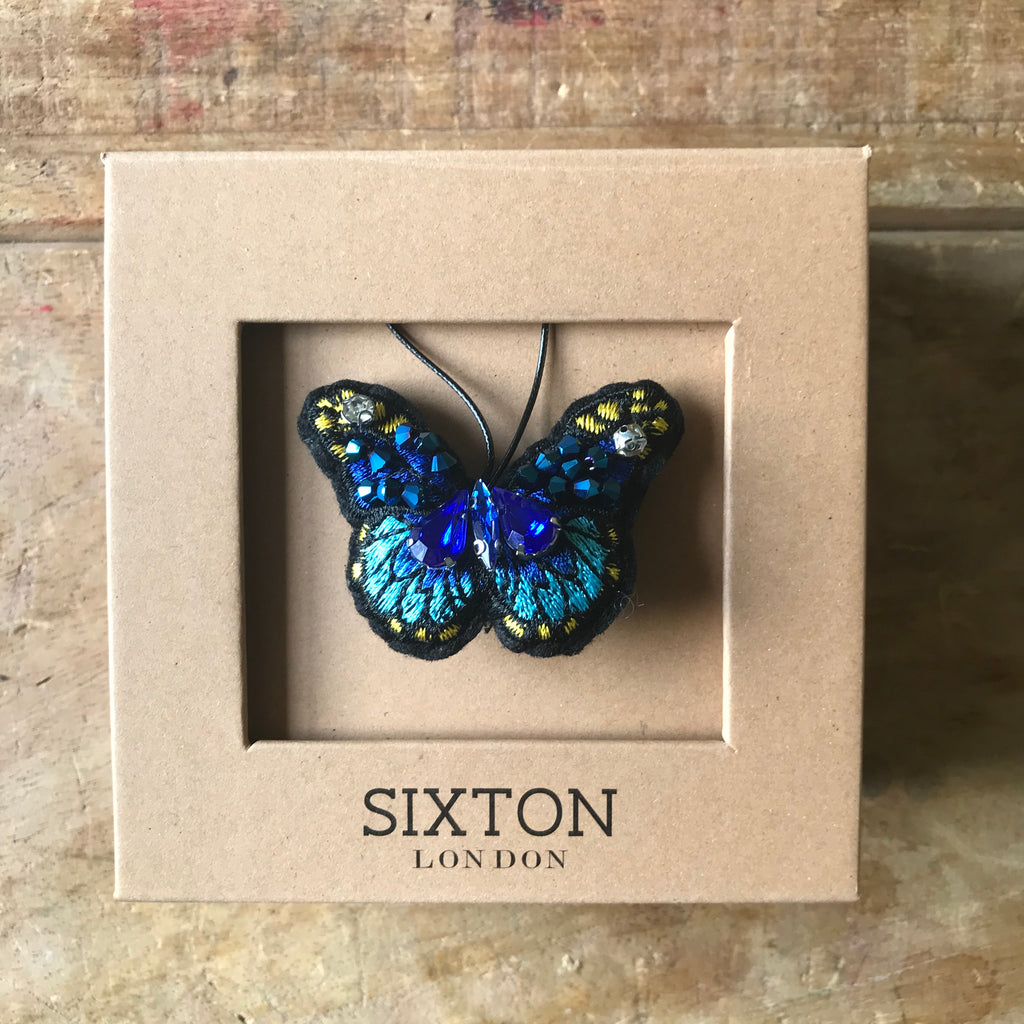 Sapphire butterfly holiday decoration
