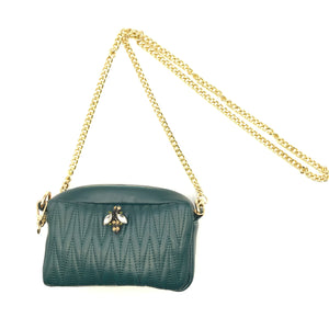 Mini handbag in vegan leather - Rivington in teal