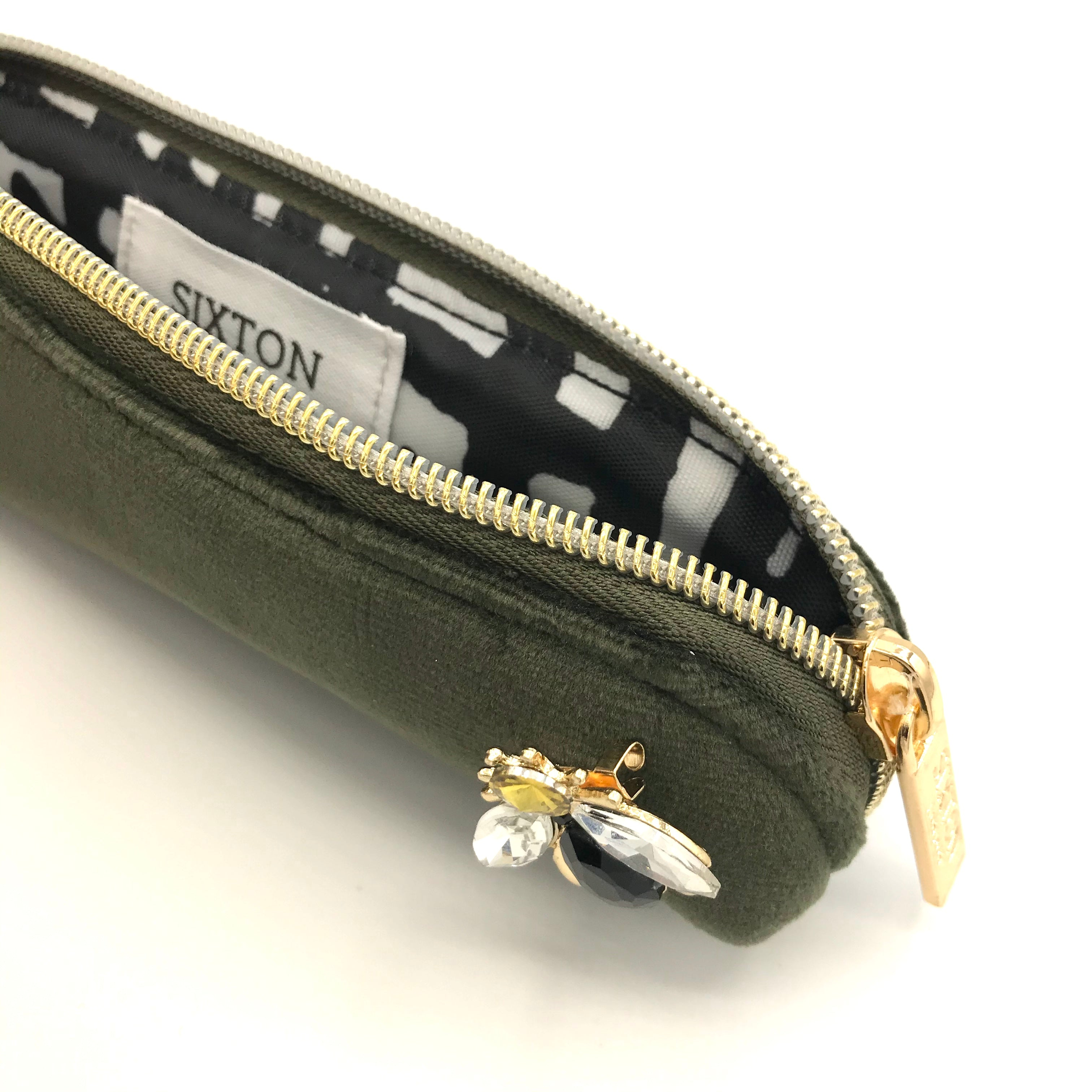 Pimlico pencil case in military olive