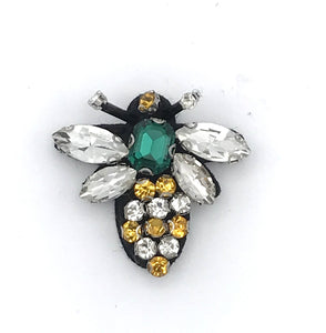 Queen bee pin green - recycled glass