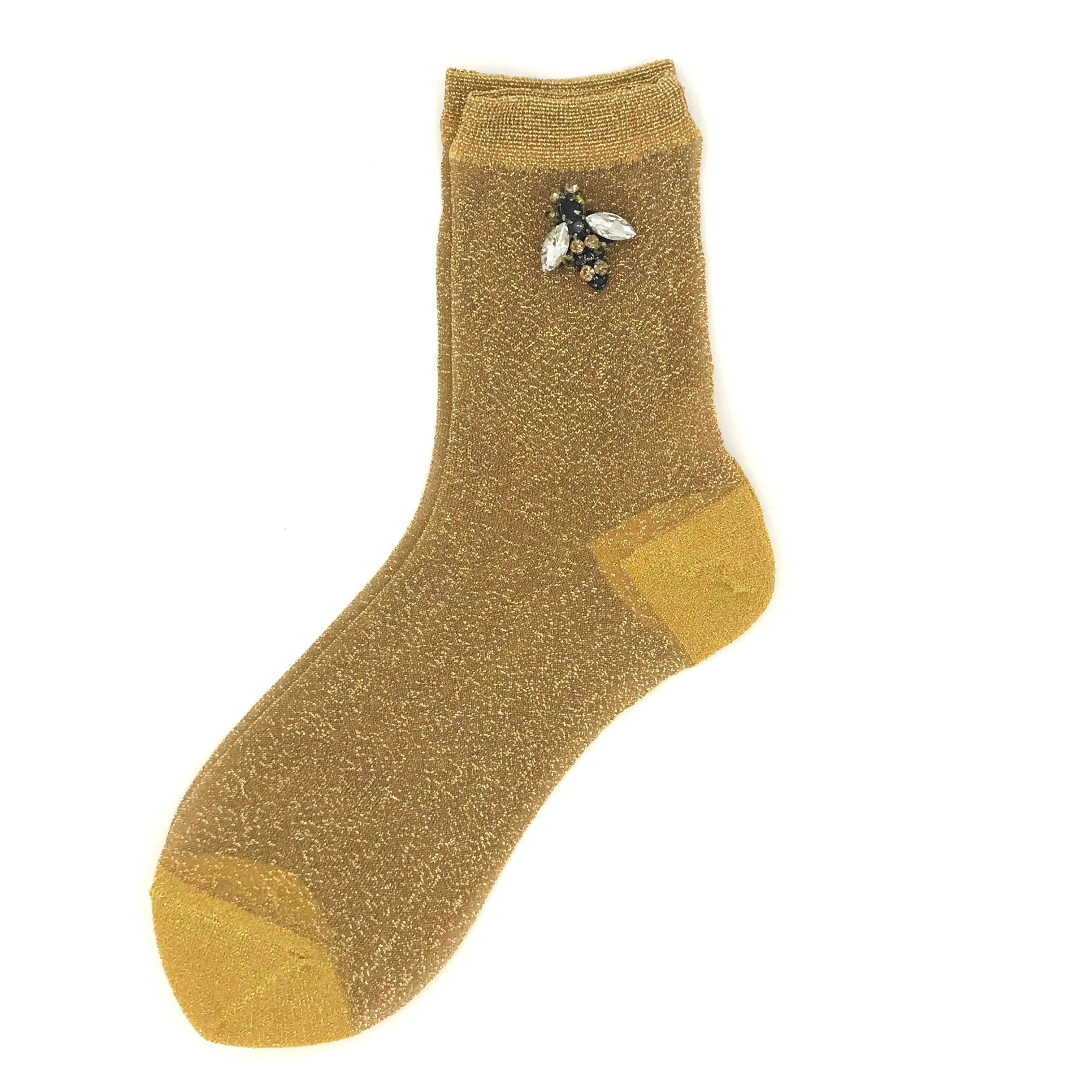 Rio socks with or without a sparkly bee pin