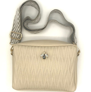 Cross body bag in vegan leather - Rivington in cream
