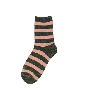 Stripe socks with or without a pin