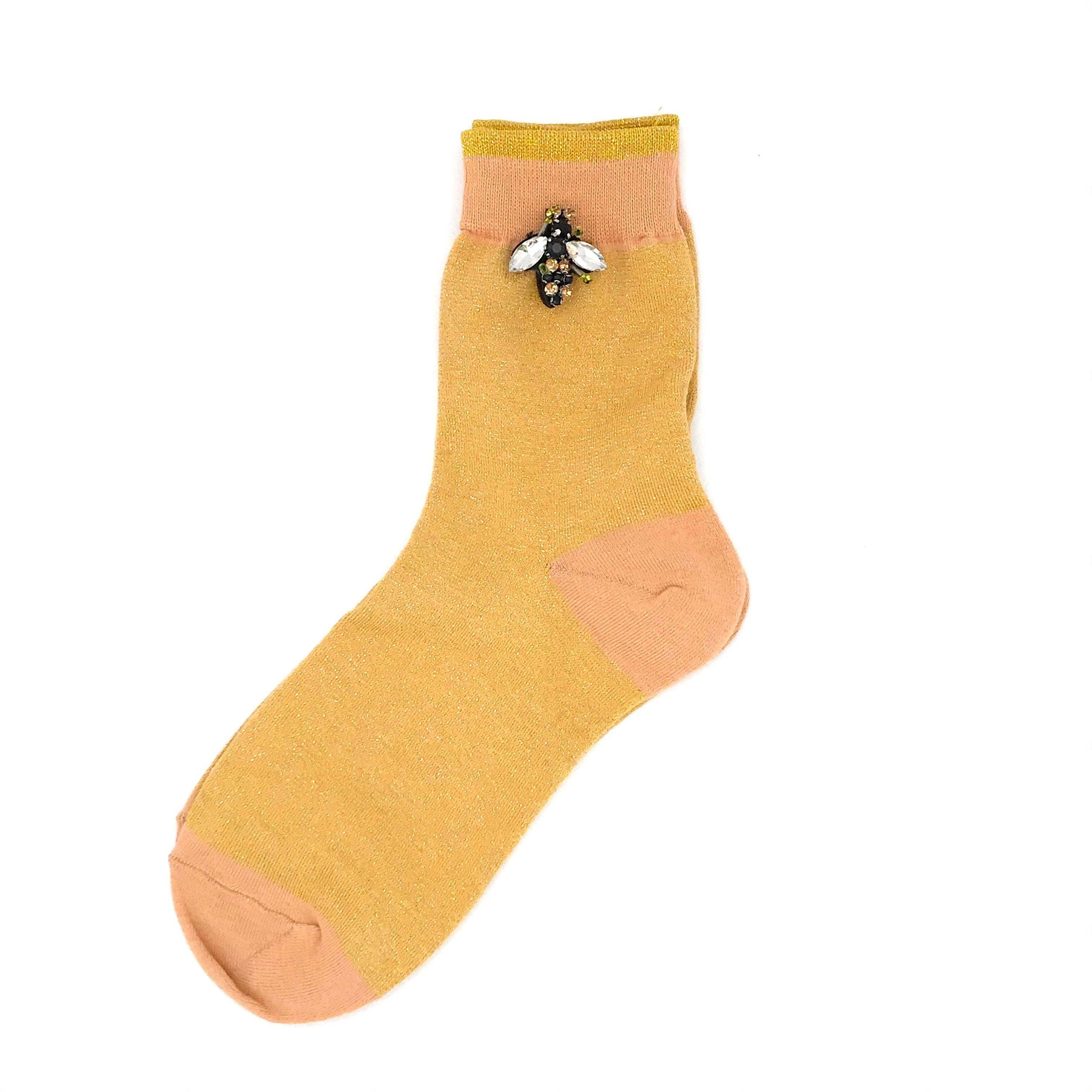 Tokyo bright socks with or without a bee pin