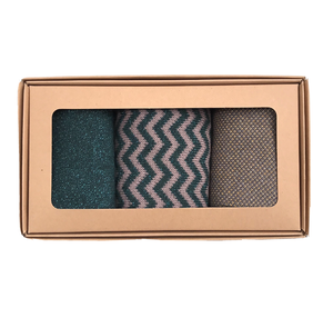 Zigzag forest sock box