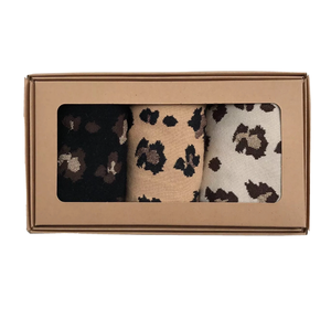 Leopard luxe sock box