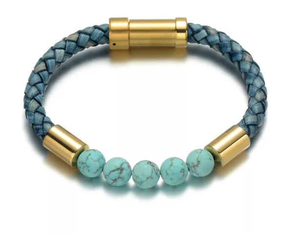 KC CROWN's 'Flat Earth' Turquoise Bracelet