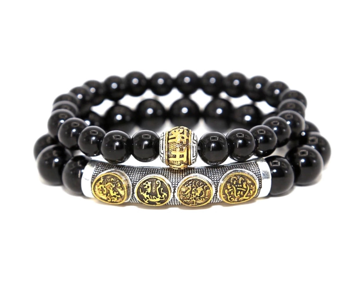 KC CROWN 'ᴄʜᴀɴɢᴇ' OM MANI PADME Prayer Bracelets