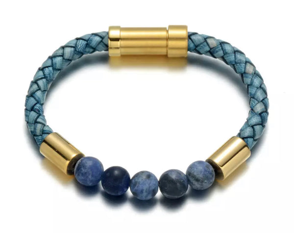 KC CROWN's 'Flat Earth' Lapiz Lazuli Bracelet