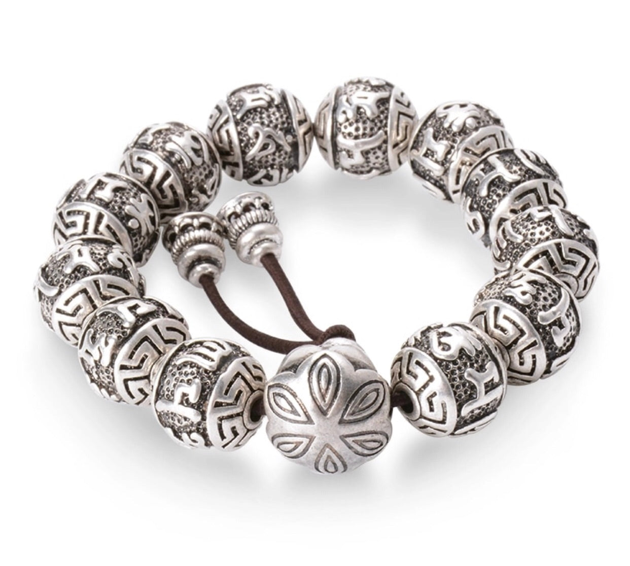 KC CROWN 'ᴄʜᴀɴɢᴇ' Mantra Ball Bracelet