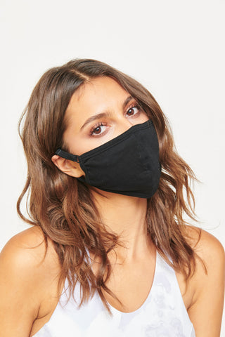 Assorted Cotton Face Masks - 5 Piece Pack - Black/Charcoal/Dove Grey/Navy/White