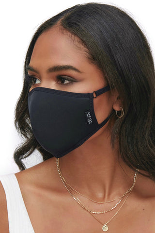 Protective Face Mask - Solid Black 3 Piece Pack