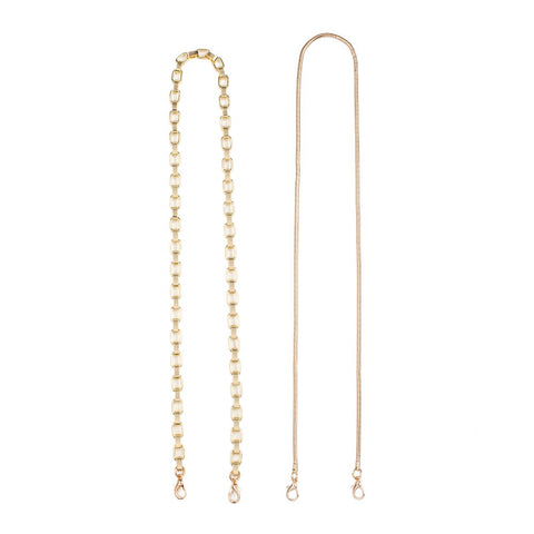 Sol and Selene Face Mask Gold Chain Necklace - 2 Pack Accessories : Accessories : Lanyards 841764106184 | Light Gold