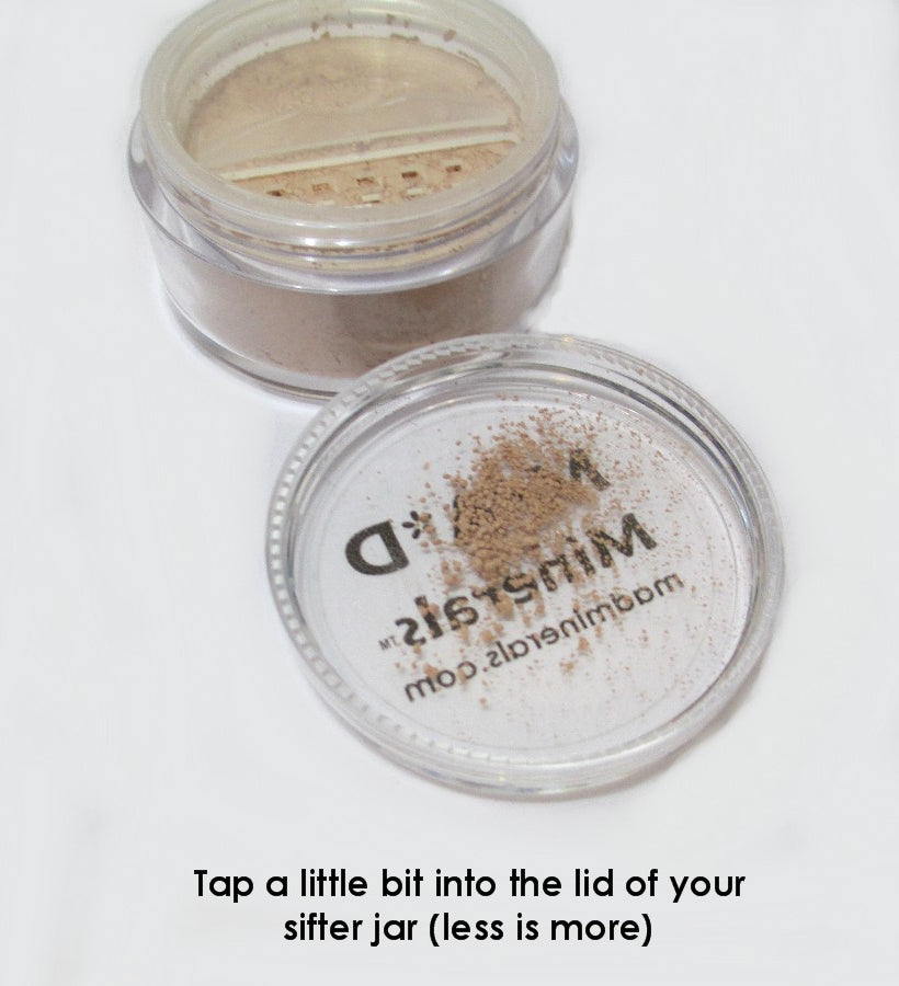 SPRINKLE A LITTLE FOUNDATION IN THE LID