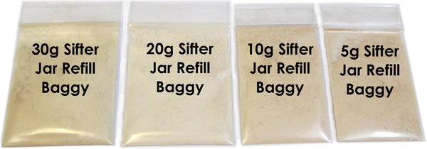 Refill Baggies are great if you already have a jar on hand.  Refills are less expensive as well.  Recycle and Re-Use your existing jars.