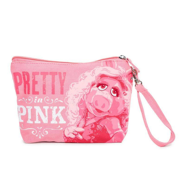 Hallmark Miss Piggy Makeup Bag Pretty In Pink Wristlet