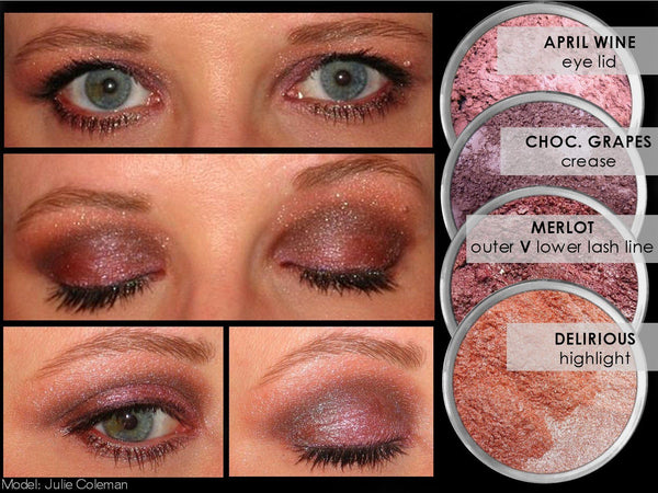 MERLOT Multi-Use Loose Mineral Powder Pigment Color Loose Mineral Multi-Use Colors M*A*D Minerals Makeup