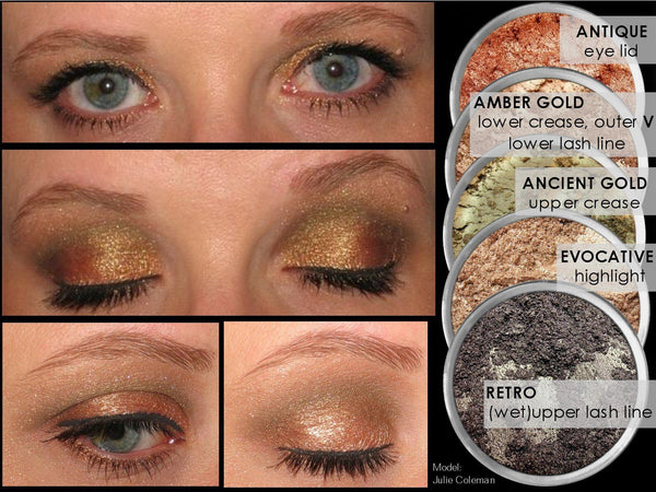 AMBER GOLD Multi-Use Loose Mineral Powder Pigment Color Loose Mineral Multi-Use Colors M*A*D Minerals Makeup
