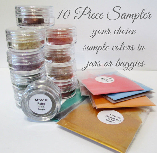 10 PC. VALUE SAMPLER SET - YOU CHOOSE THE COLORS Sets & Kits M*A*D Minerals Makeup