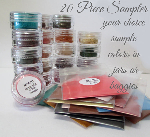 20 PC. VALUE SAMPLER SET - YOU CHOOSE THE COLORS Sets & Kits M*A*D Minerals Makeup