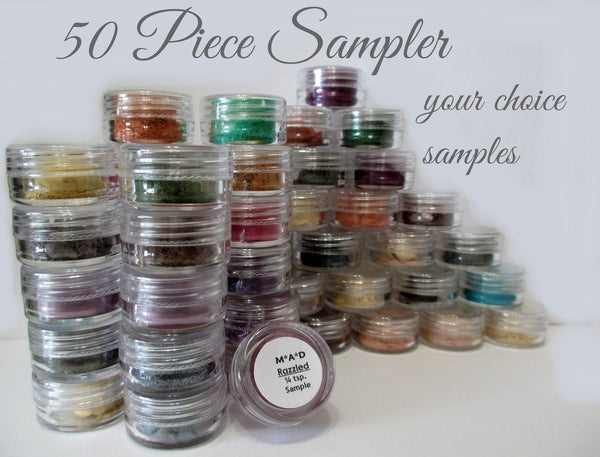50 PC. VALUE SAMPLER JAR SET - YOU CHOOSE THE COLORS Sets & Kits M*A*D Minerals Makeup