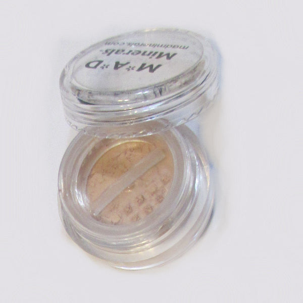 5 GRAM CLEAR COSMETIC JAR WITH SIFTER OPTION Accessories M*A*D Minerals Makeup WITH ROTATING SIFTER