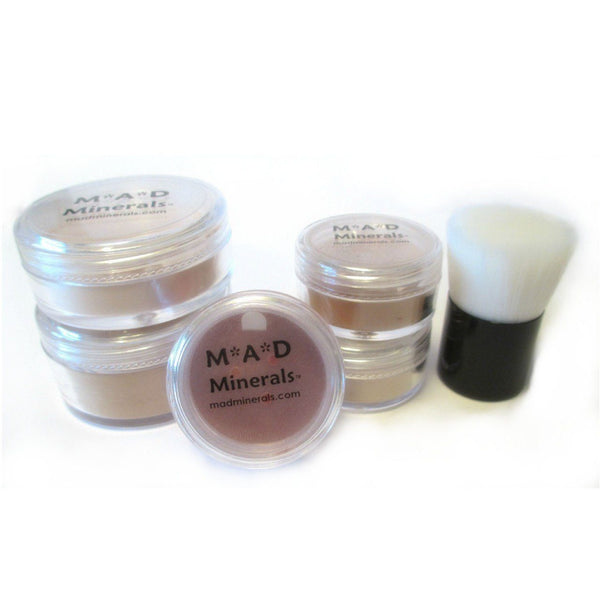 6 PIECE FULL SIZE BASIC MINERAL STARTER KIT Sets & Kits M*A*D Minerals Makeup