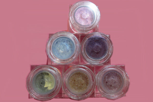 6 Piece Valentine's Limited Edition Cube Jar Set - Shimmer Mineral Colors