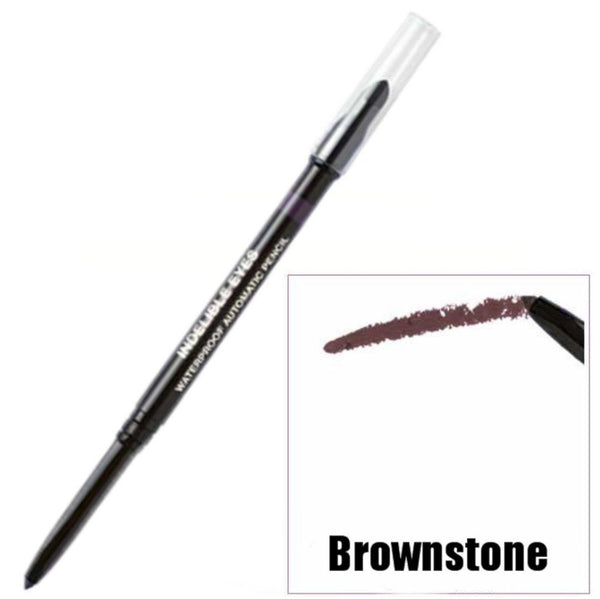 BROWNSTONE Indelible Waterproof Long Wearing Automatic Eyeliner Pencil With Sponge Blender