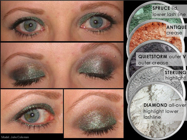 QUIET STORM Multi-Use Loose Mineral Powder Pigment Color Loose Mineral Multi-Use Colors M*A*D Minerals Makeup
