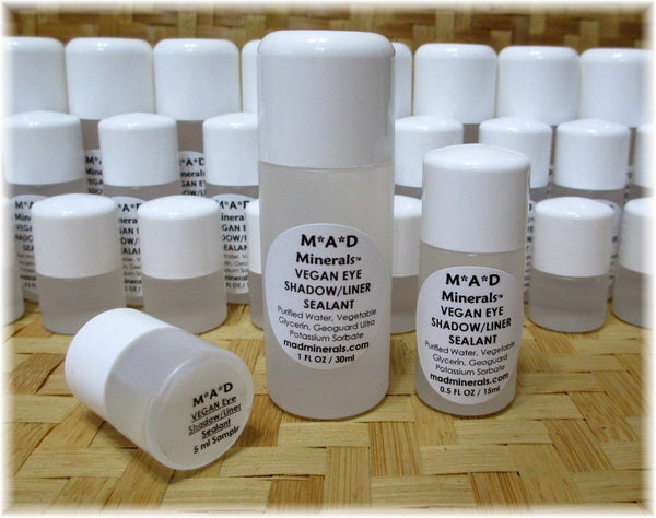 NEW! VEGAN MINERAL PIGMENT EYE SHADOW/LINER SEALANT EYE PRIMER M*A*D Minerals Makeup