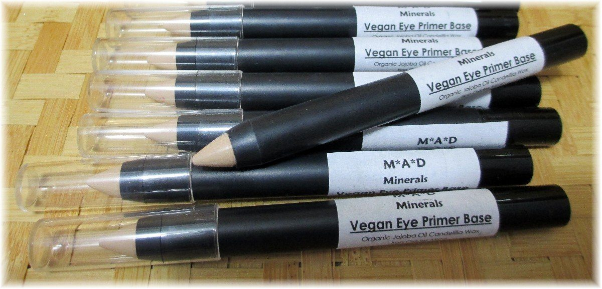 NEW! VEGAN CREASE AND SMUDGE PROOF EYE SHADOW PRIMER BASE CRAYON EYE PRIMER M*A*D Minerals Makeup