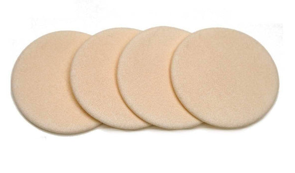 LATEX-FREE ROUND FLOCKED SPONGES - 4 PACK VEGAN MAKEUP BRUSH M*A*D Minerals Makeup