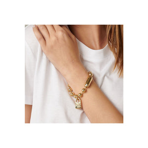 Gold Snowflake Uno De 50 Bracelet- Medium