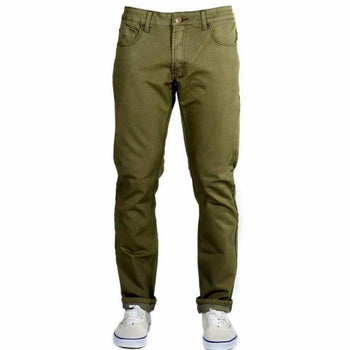 Olive Green Kush Denim - Slim Fit