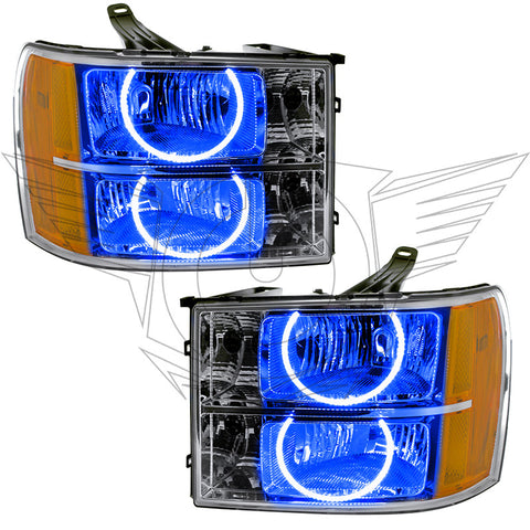 07-13 Sierra Oracle Pre-assembled Headlights Round