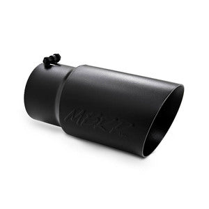 "Tip, 6"" O.D. Dual Wall Angled 5"" inlet 12"" length - Black Finish"