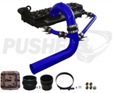 03-07 Cummins Pusher Intakes 3.5 Mega Cross Air System Blue