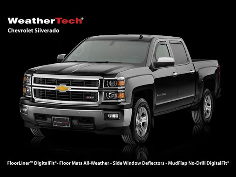 01-18 Chevy & GMC Extended Cab WeatherTech Window Deflectors