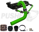 03-07 Cummins Pusher Intakes 3.5 Mega Cross Air System Green