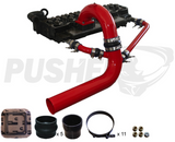 03-07 Cummins Pusher Intakes 3.5 Mega Cross Air System Red