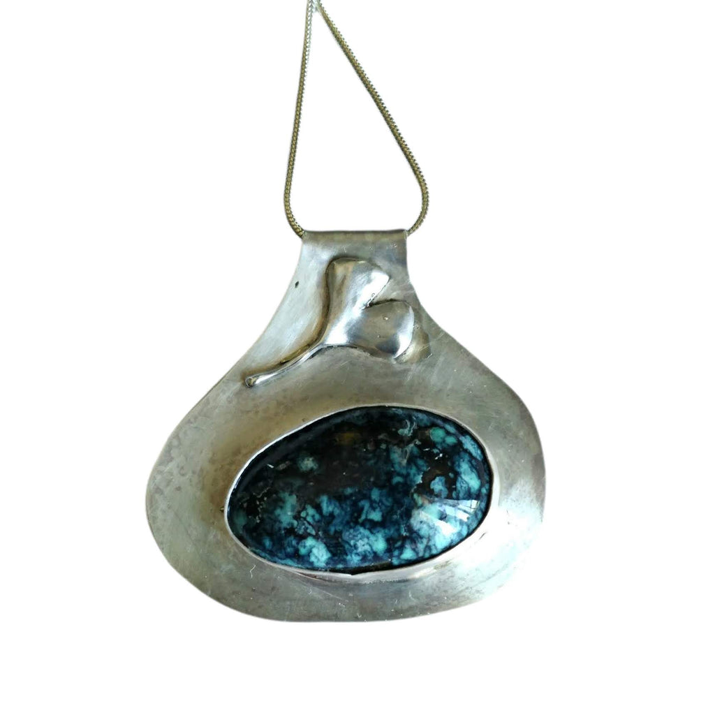 Rare Lander Turquoise in silver with pendant/Default Title - #shop_terradore#