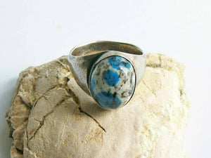 Sterling Silver Blue Dot (also known as K2 stone) Ring - Marked Down to Make Room - #shop_terradore#