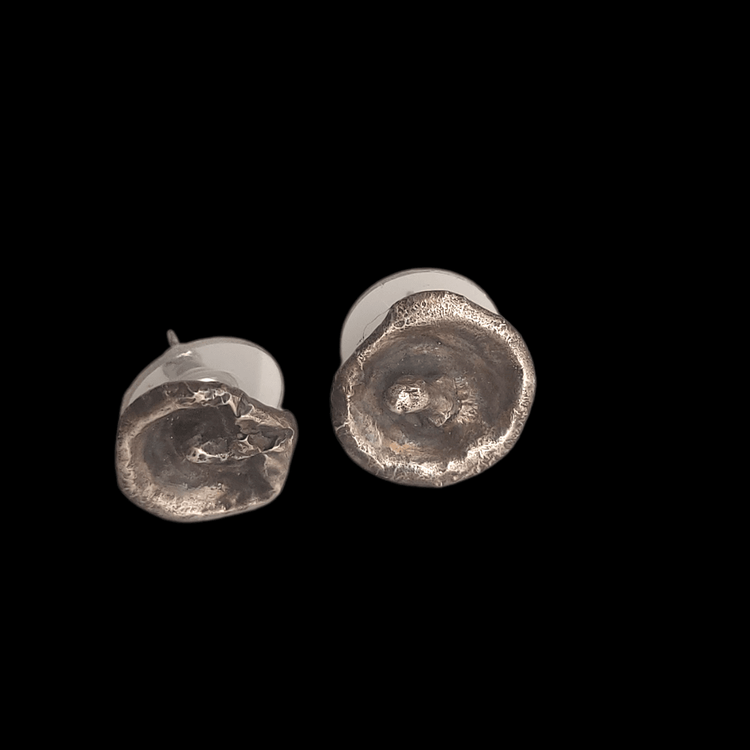 Sterling Silver Water Cast Stud Earrings - #shop_terradore#
